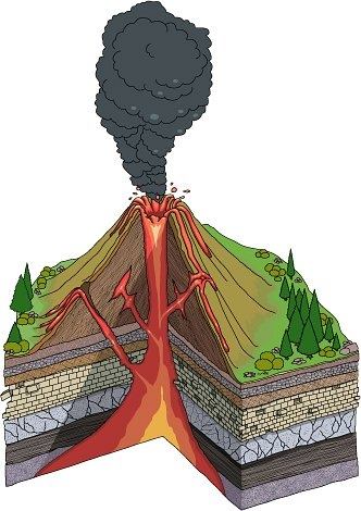 Volcano clip art free clipart images 13.