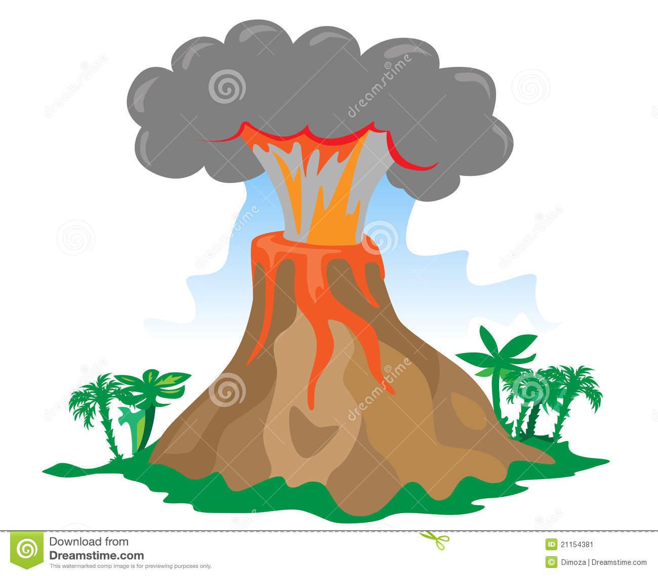 Volcano Animated Clipart.