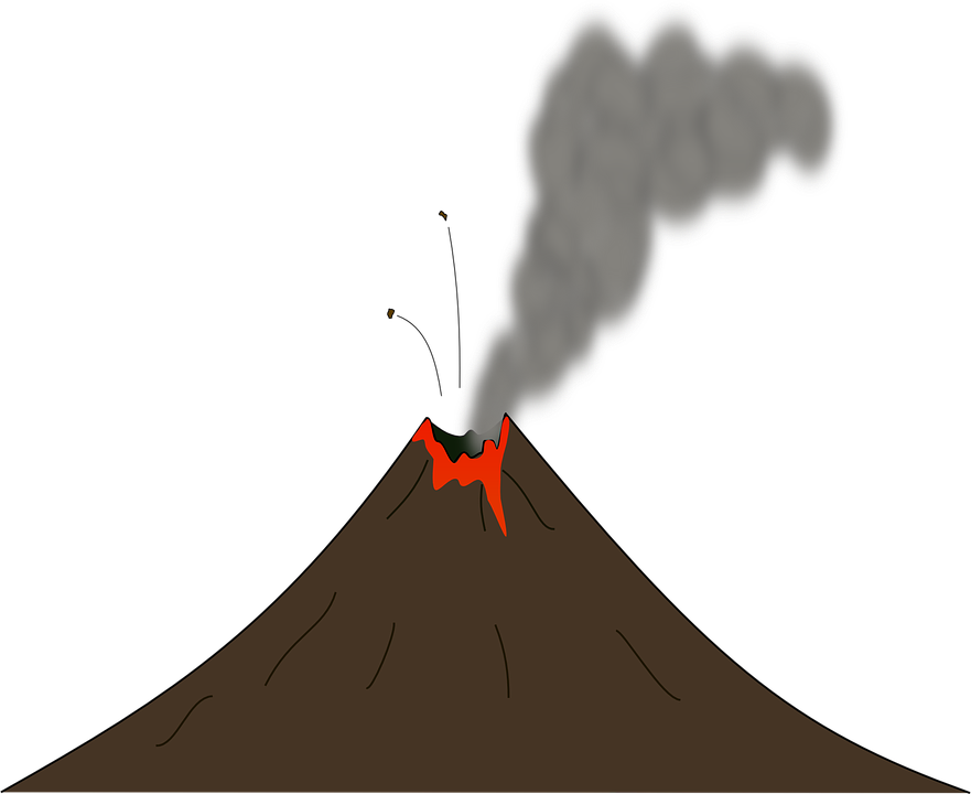 Free vector graphic: Earth, Smoke, Volcano, Lava, Erupt.