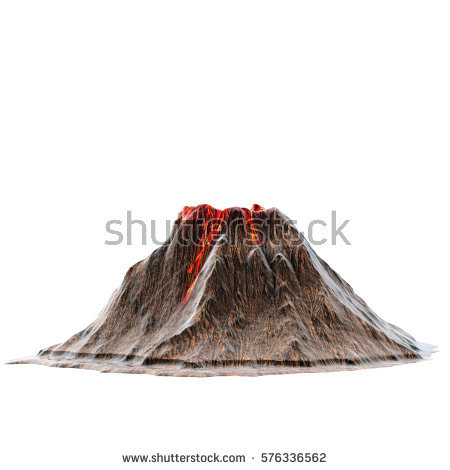 Volcano Stock Images, Royalty.