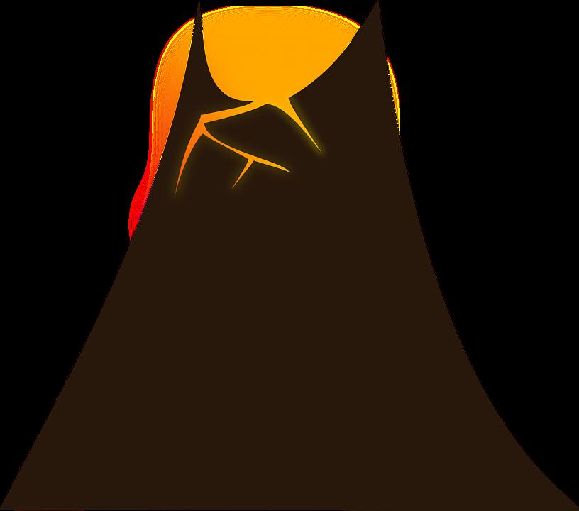 Free vector graphic: Volcano, Hot, Fire, Lava, Mountain.