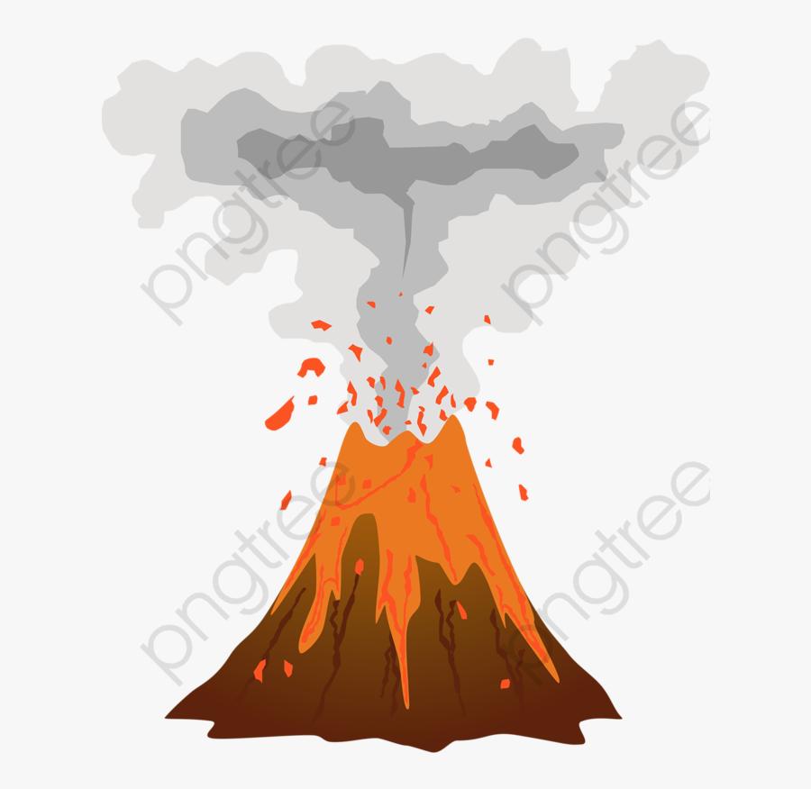 Transparent Volcano Clipart.