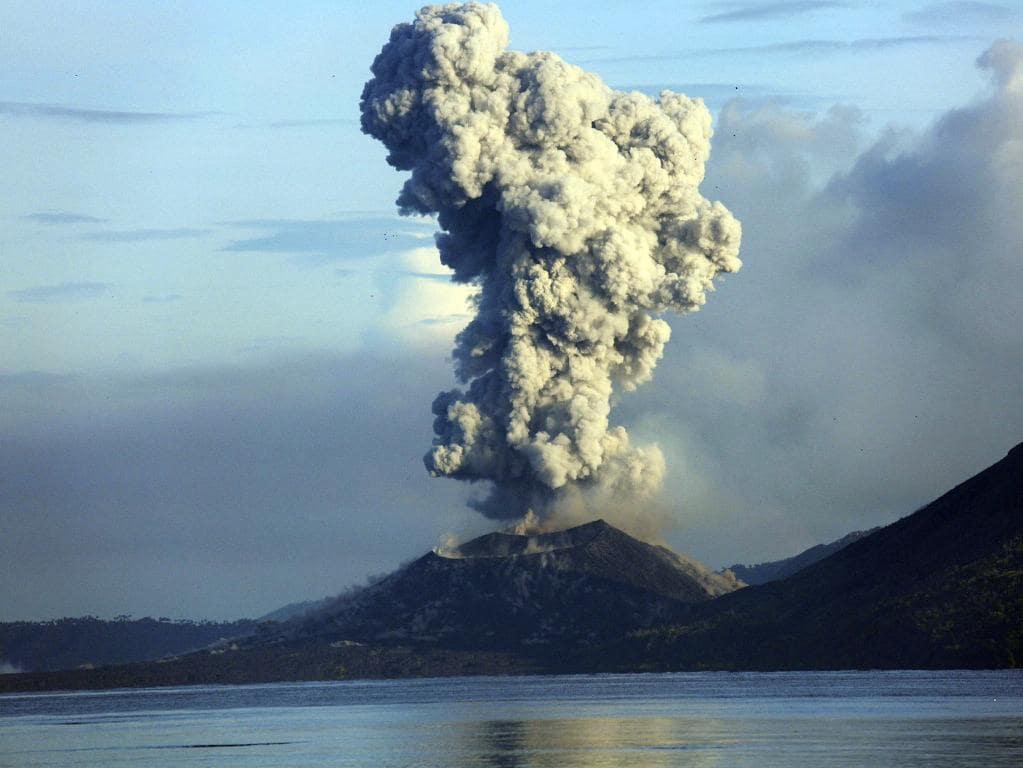 Volcano eruption in PNG.