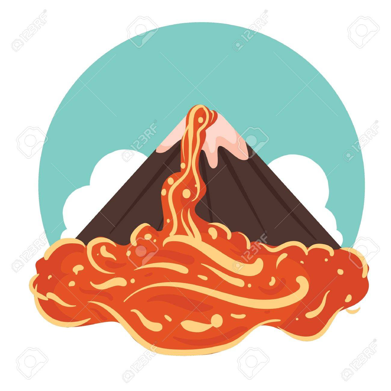 Volcano Eruption Clipart.