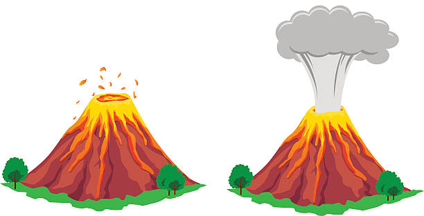 Best Volcano Illustrations, Royalty.