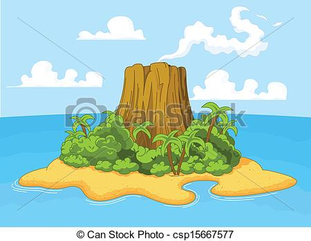 Volcano island Illustrations and Clip Art. 624 Volcano island.