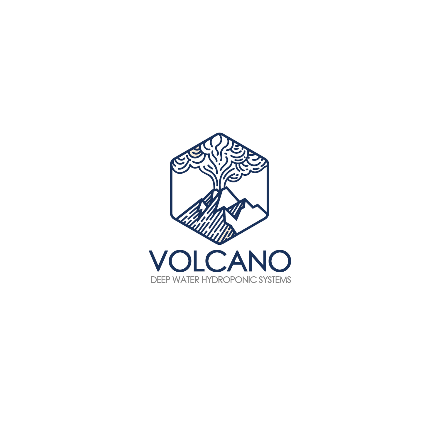 Logo Design for Volcano Deep Water Hydroponic Systems by.