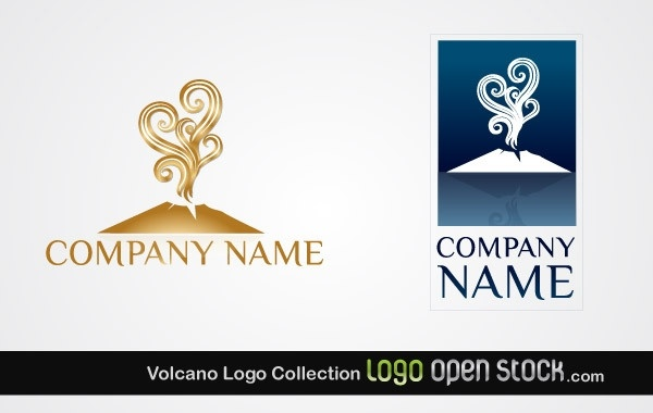 Volcano Logo Collection Free vector in Adobe Illustrator ai.