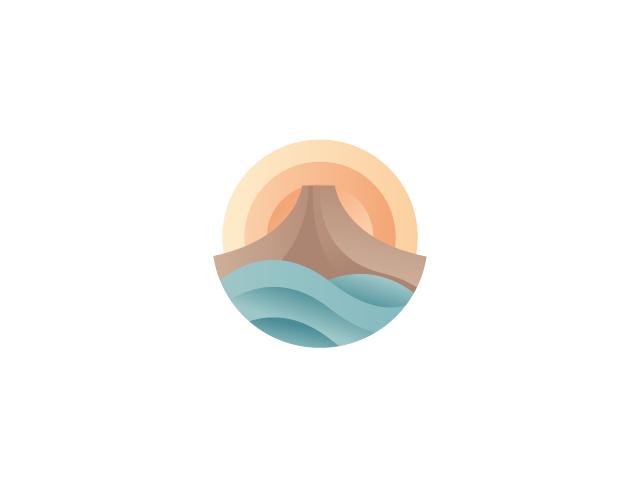 Volcano Logo Design.