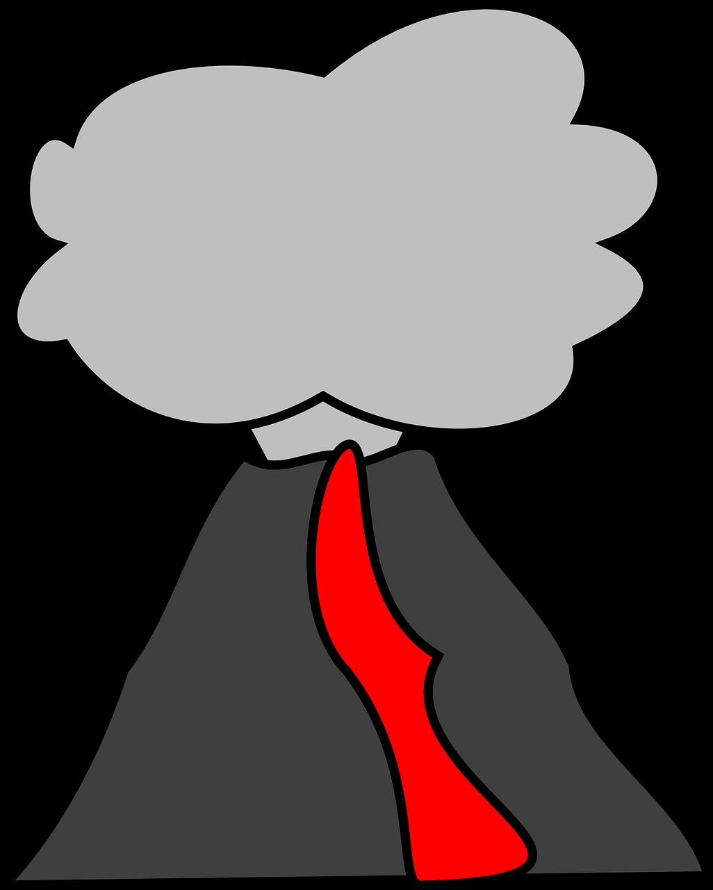 Volcano more clipart #12