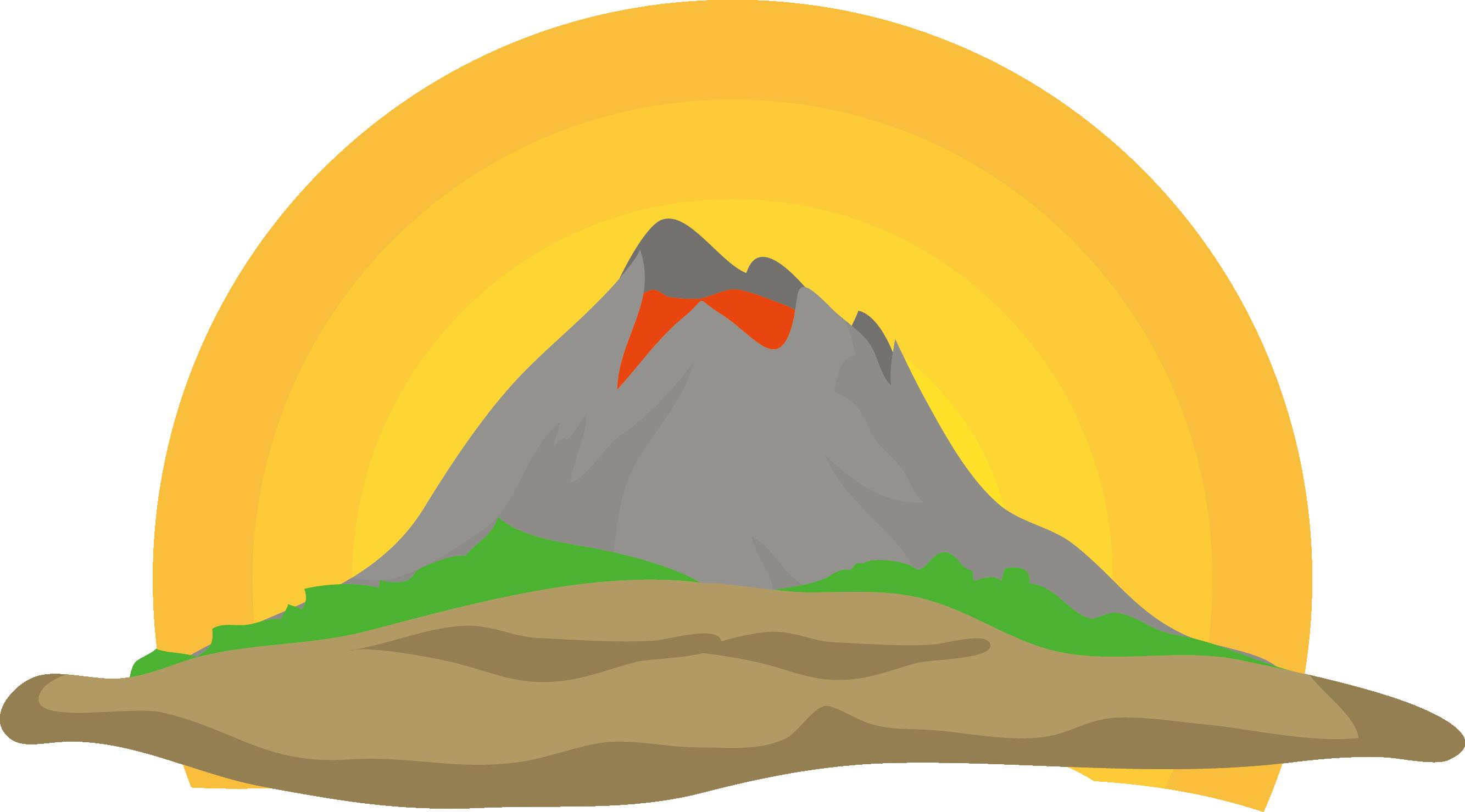 Clipart mountains volcano, Clipart mountains volcano.