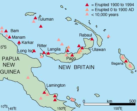 Tectonic Setting and Volcanoes of Papua New Guinea, New Britain, and.