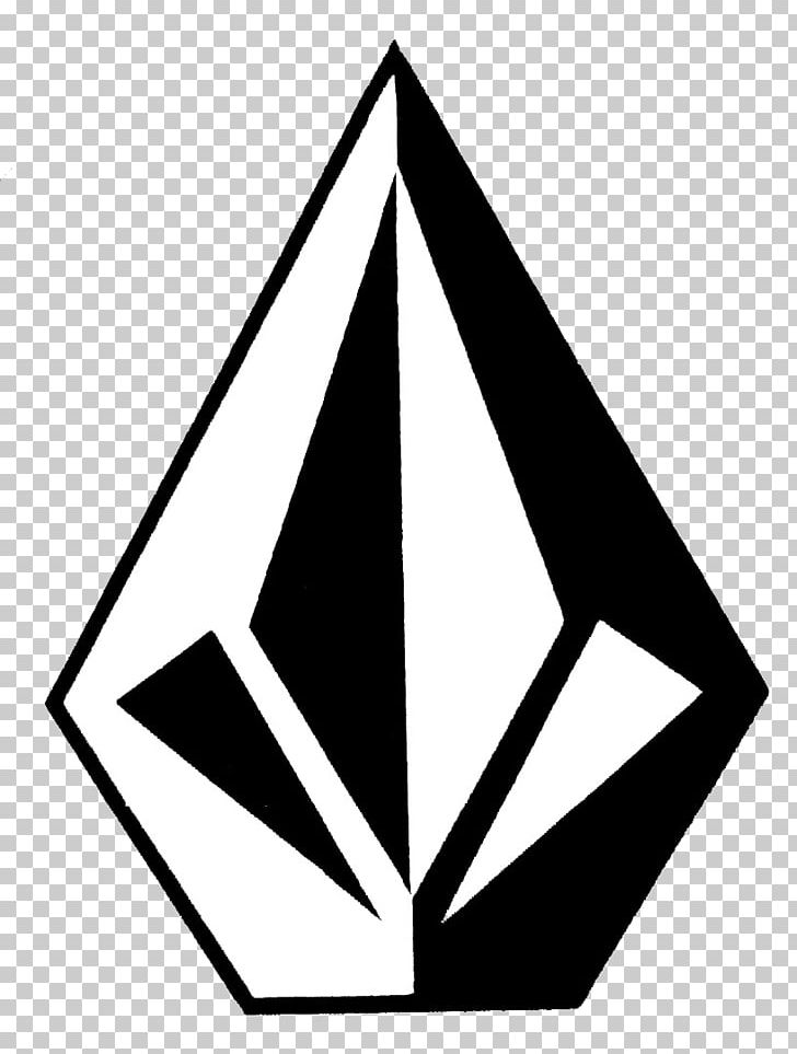 Volcom Clothing Logo Sticker Decal PNG, Clipart, Angle, Area, Black.
