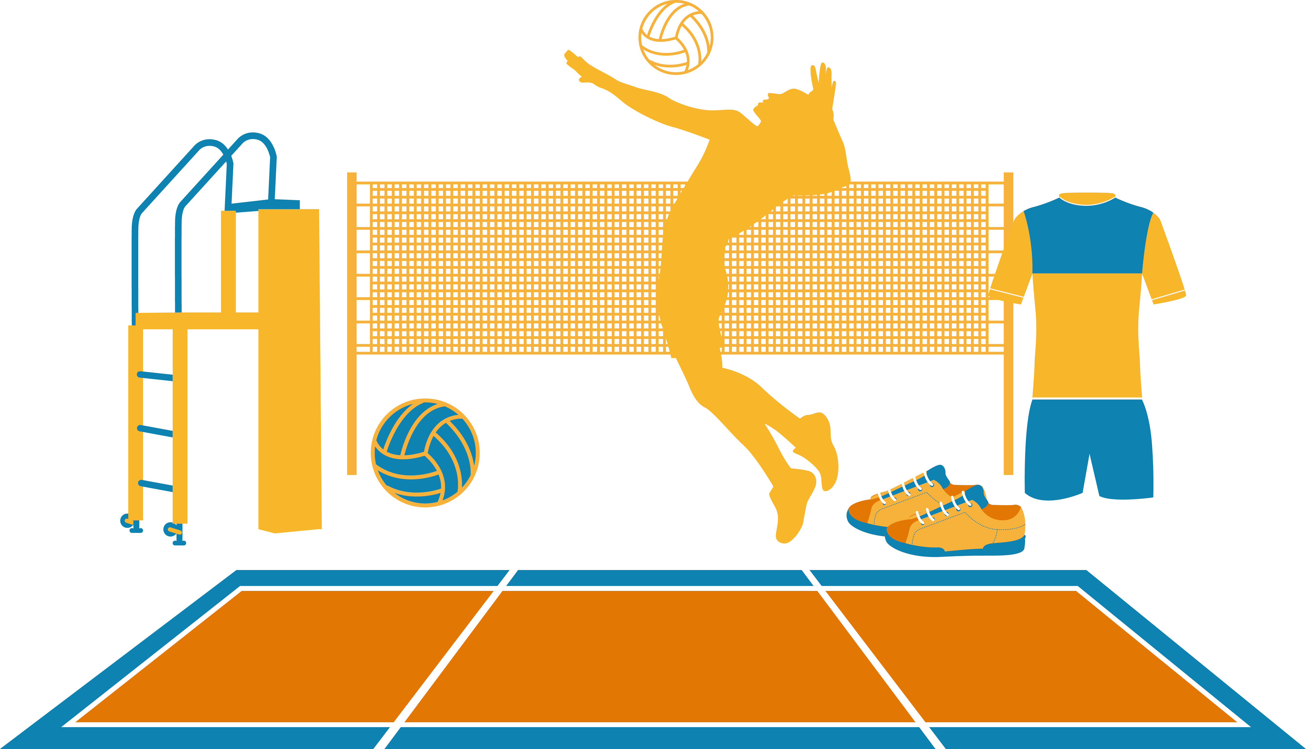 HD Volleyball Vecteur Euclidean Vector.