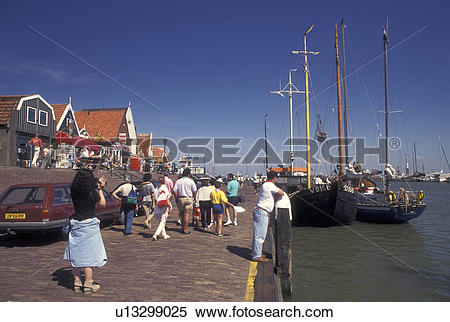 Stock Image of Netherlands, Holland, Volendam, Noord.