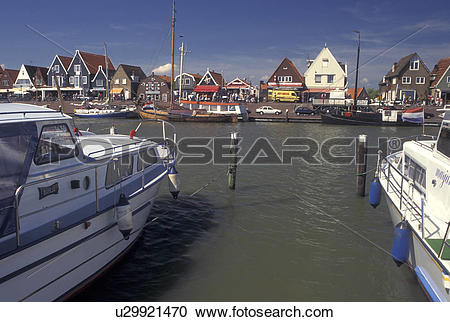 Stock Photography of Volendam, Netherlands, Holland, Noord.