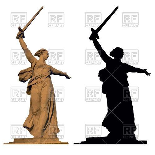 Motherland statue in Volgograd, dedicated to the Stalingrad battle.