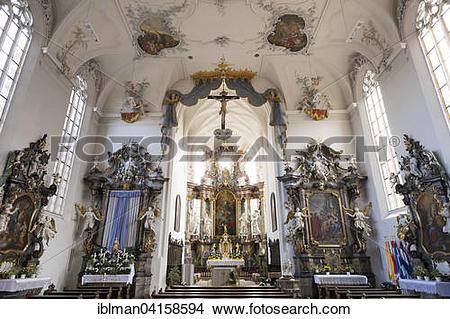 Stock Photo of Parish Church of St. Bartholomew and St. Georg.