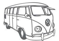 Vw Bus Free Vector Art.