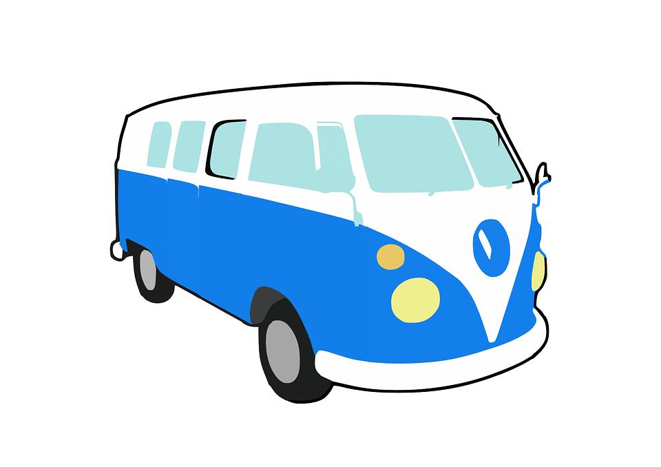 Free vector graphic: Bus, Transporter, Volkswagen, Vw.