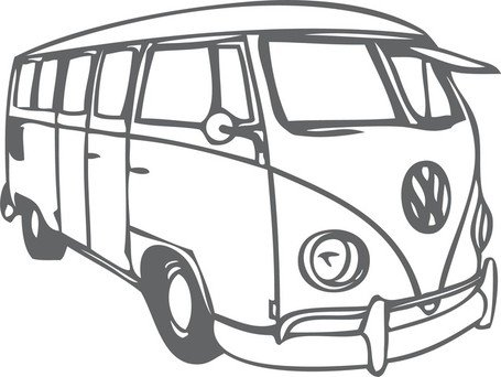 Vw Bus, free vector.