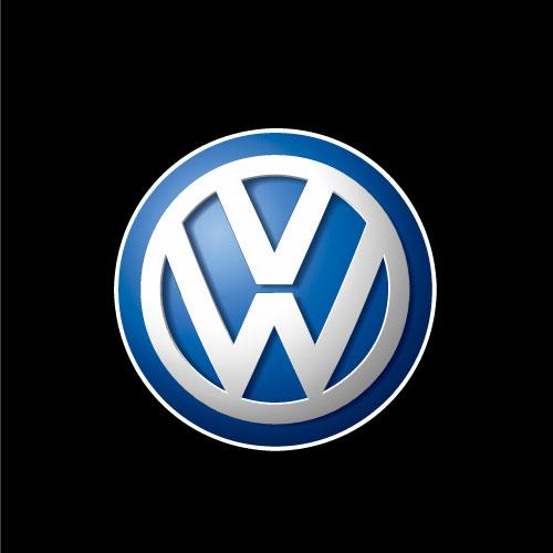 Volkswagen brand logo vector design.