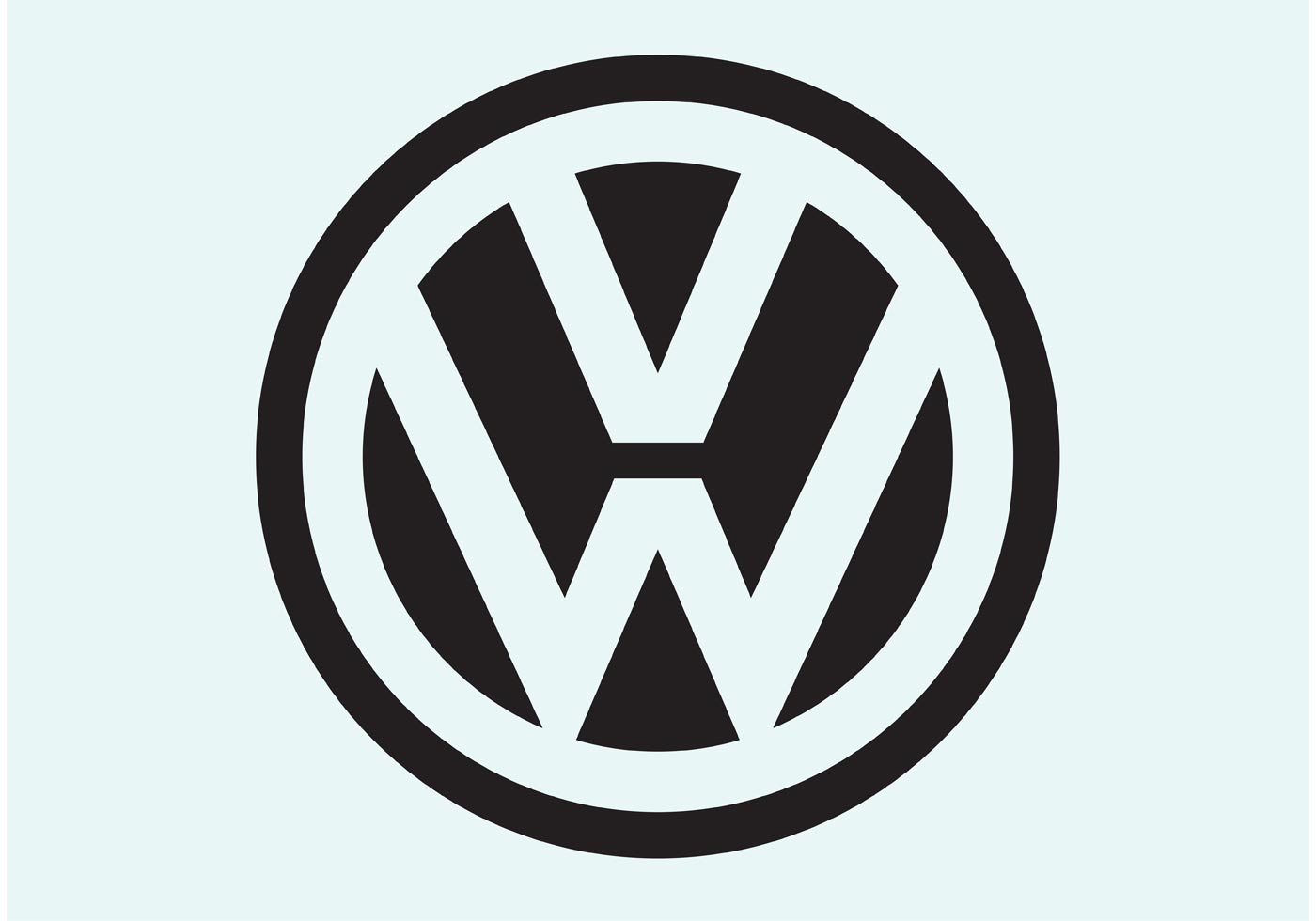 Volkswagen Logo Free Vector Art.