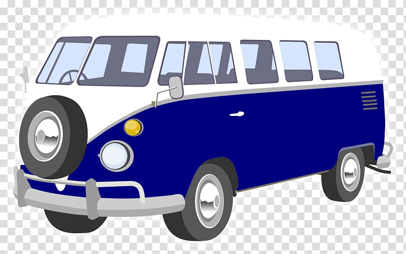 Van Volkswagen Type 2 Car , camper transparent background.