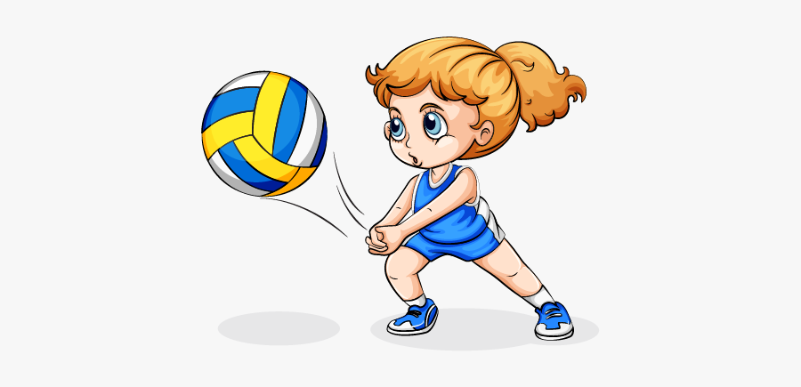 Clip Art Girl Playing Volleyball Clipart.