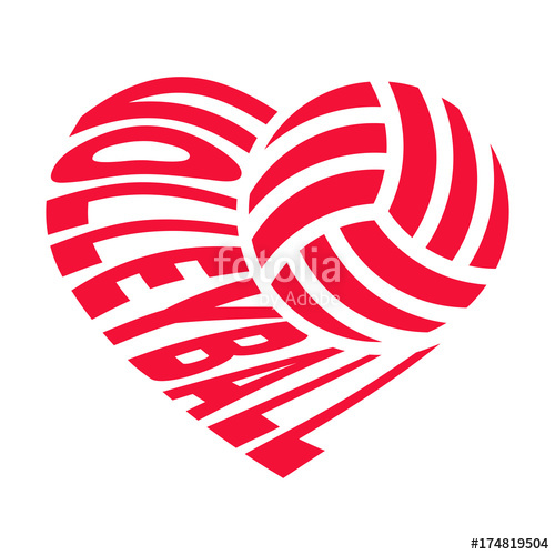 Volleyball Cliparts Heart 11.