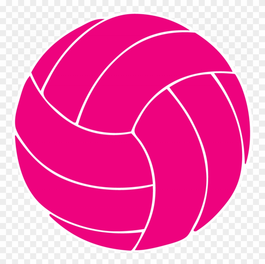 Pink Volleyball Clip Art.