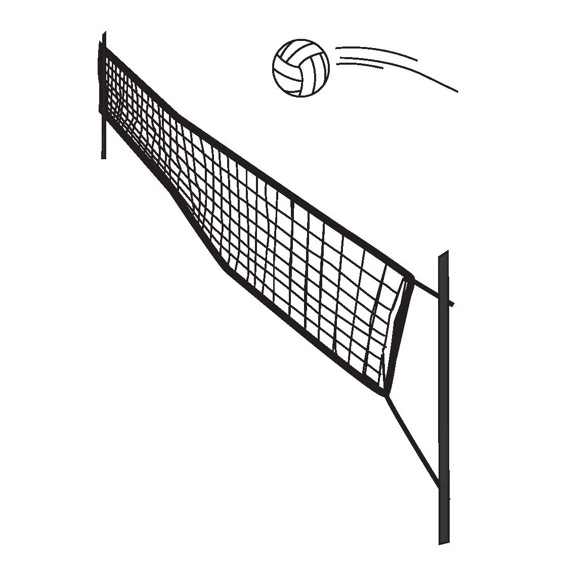 402 Volleyball Net free clipart.