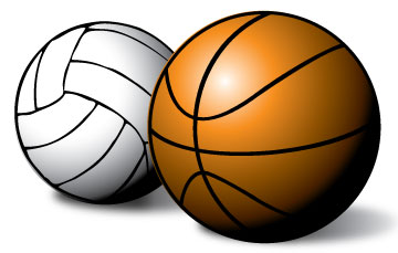 Volleyball And Basketball Clipart.