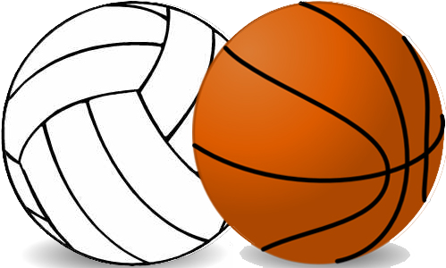 Basketball And Volleyball Clipart.
