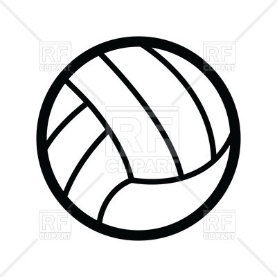 Volleyball ball Vector Image.