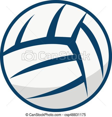 Volleyball vector logo design..
