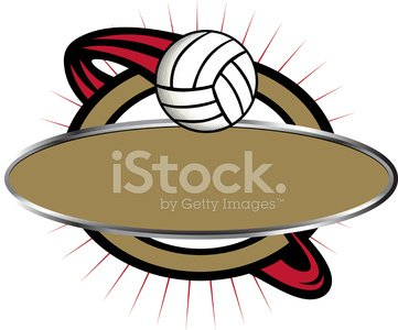 Volleyball Banner Clipart Image.