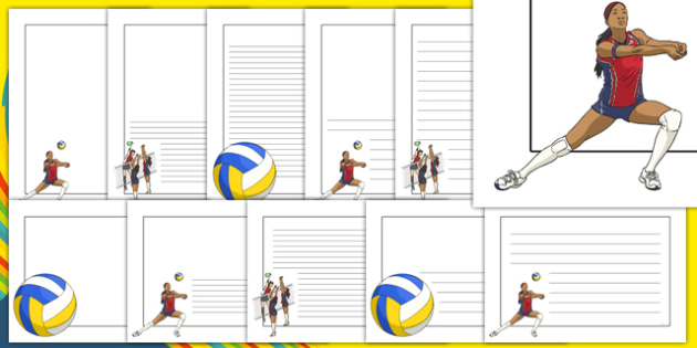 Volleyball Page Border Free Borders And Frames Alive Clipart Various.