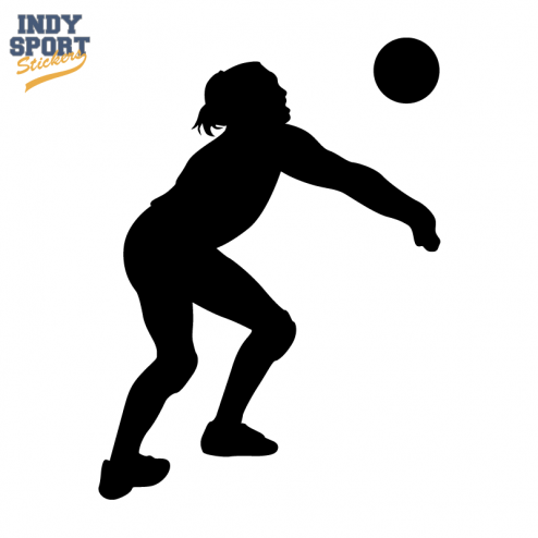 Silhouette Volleyball Player Bump.
