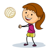 Girl Playing Volleyball Bump Pass » Clipart Station.