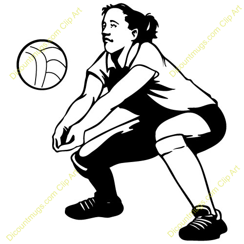 Volleyball Girl Passing Clipart & Free Clip Art Images #28784.