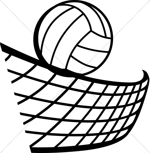 Volleyball in Black and White.