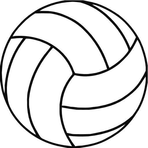 Volleyball clipart black and white 2 » Clipart Portal.