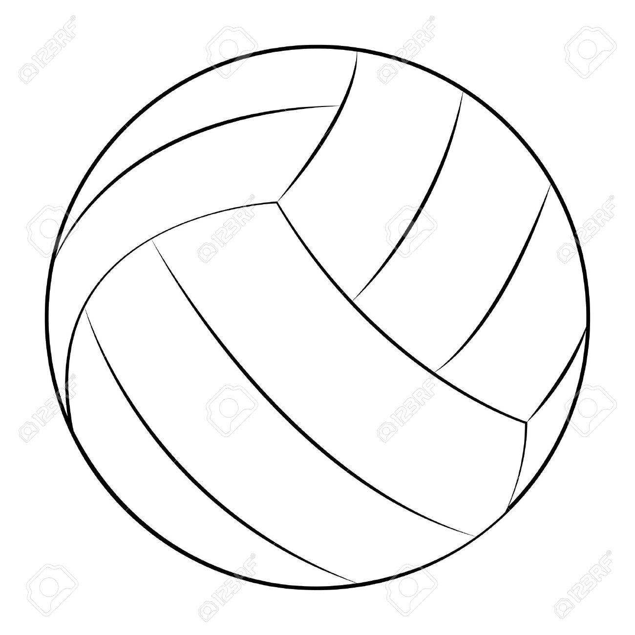 Volleyball clipart outline, Volleyball outline Transparent.