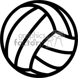 volleyball outline svg cut file clipart. Royalty.