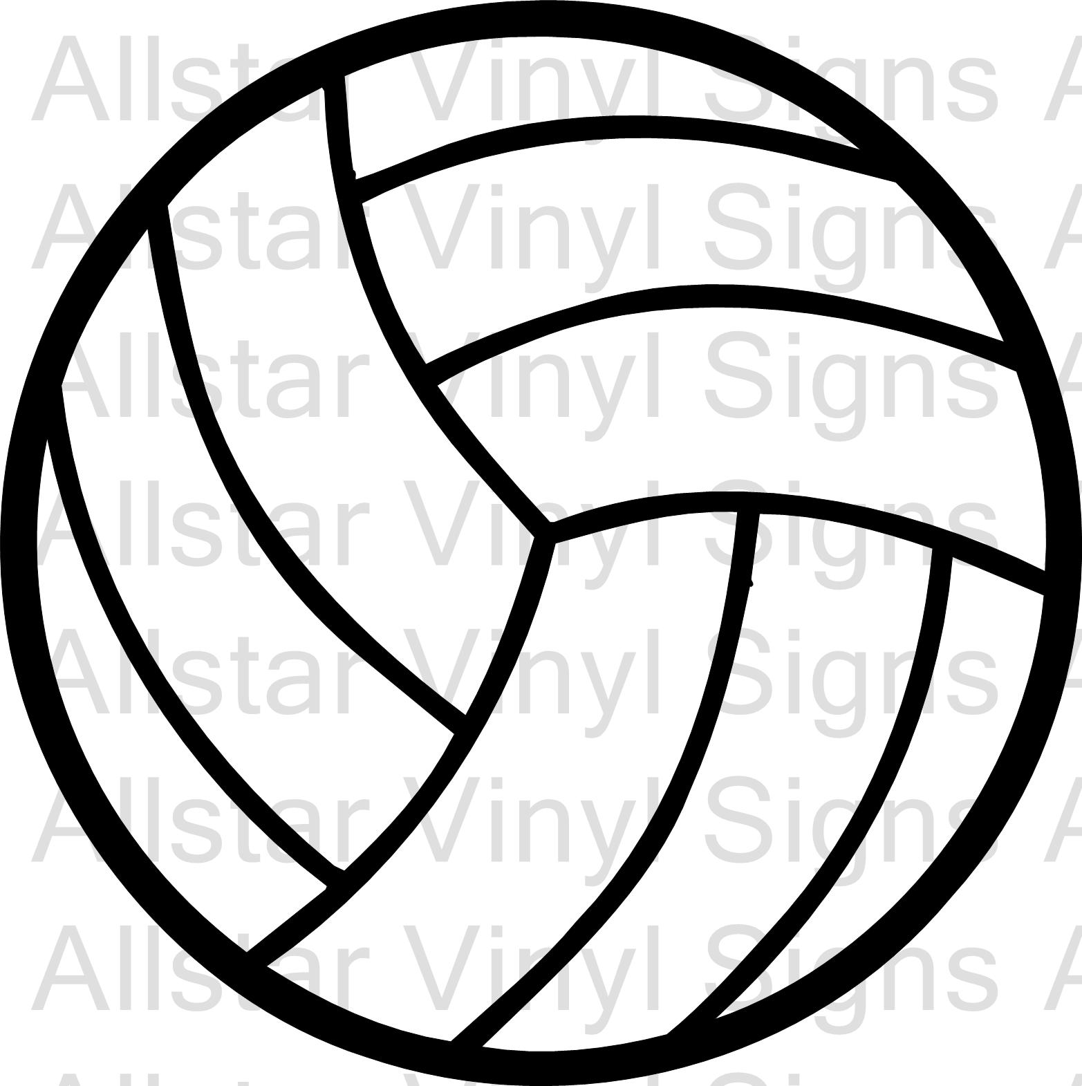 Volleyball Clipart Royalty Vector Of A Logo Of A Volleyball.