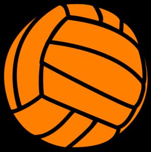 Orange volleyball clip art vector clip art free.