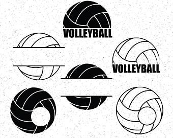 Clipart volleyball monogram, Clipart volleyball monogram.