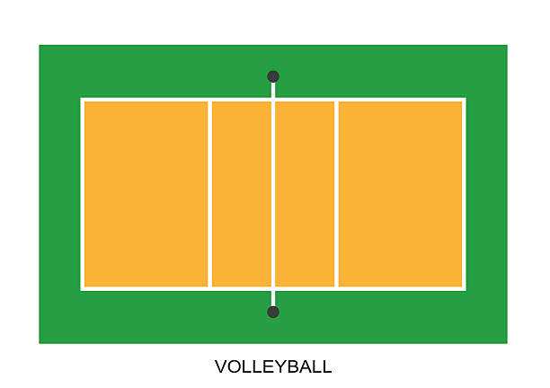 Best Volleyball Court Illustrations, Royalty.
