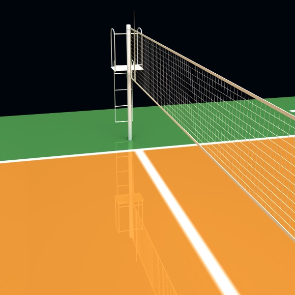 Volleyball Court Clipart.